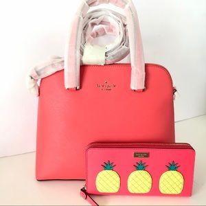 Kate Spade Maise Purse Wallet Bundle Set Pineapple